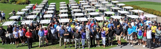 Group of Golfers at Golf for Hospice Event